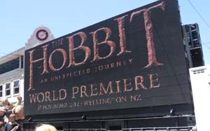 The Hobbit World Premiere Sign