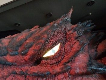 Smaug The Dragon at Wellington Airport