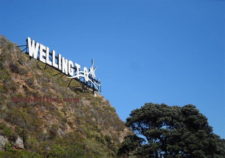 Wellington sign for 10 things to do in New Zealand