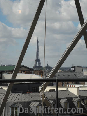 Eiffel Tower Paris France Galleries Lafayette