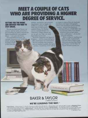 Library Cats Baker and Taylor