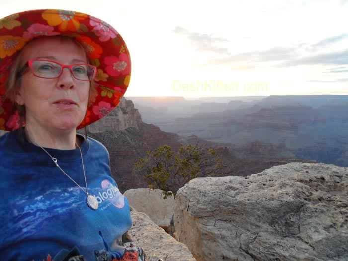 Whskr enjoying the Grand Canyon