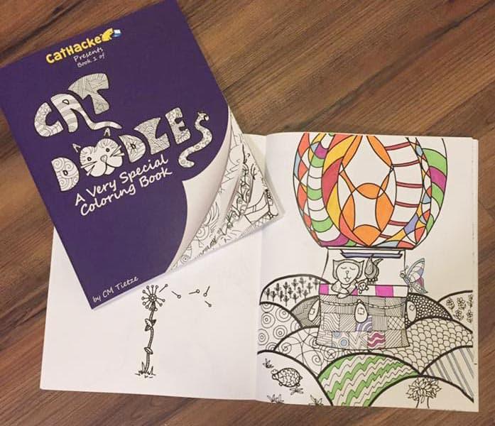 Cat Doodles Coloring book