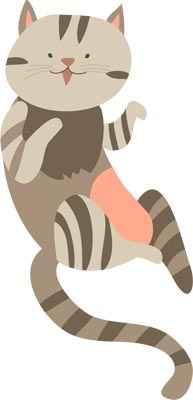 Cat graphic for Dash Kitten Crew Blog post