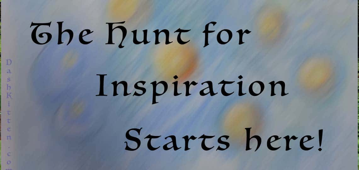 Graphic showing the text Hunt for Inspiration