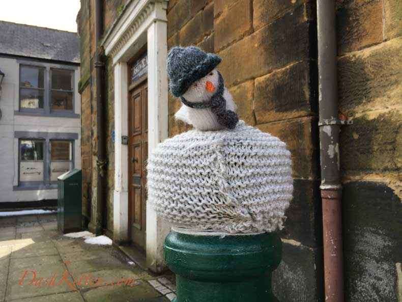 Yarn bombing Guisborough