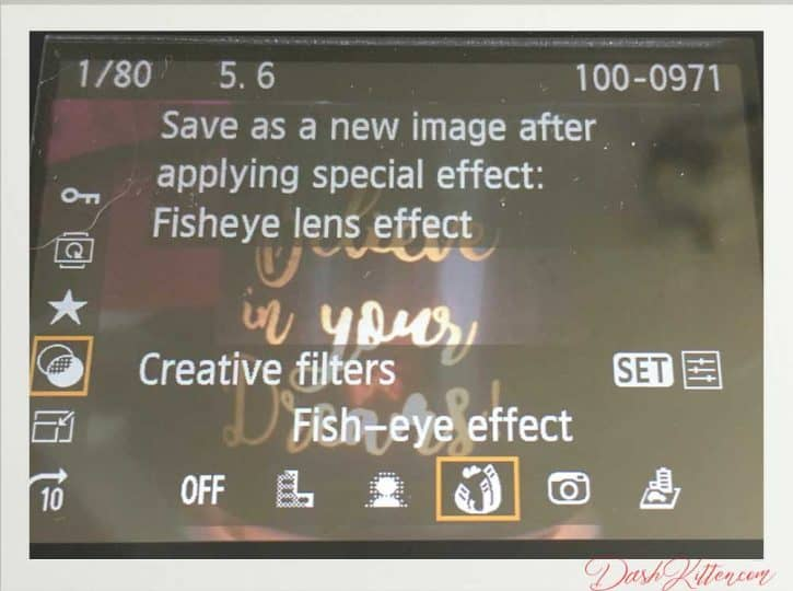 The Creative Filters Window